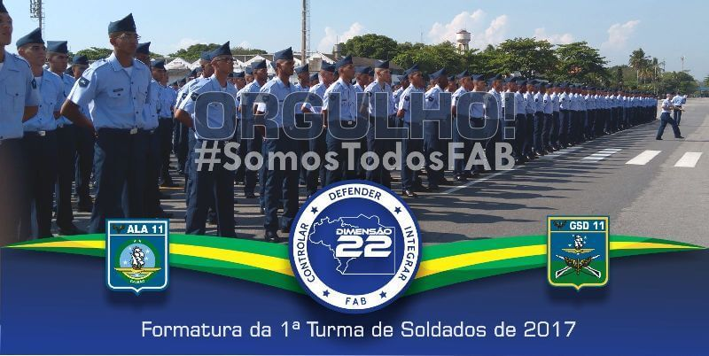 Commemorative banner for the Ala 11 first class soldiers in 2017